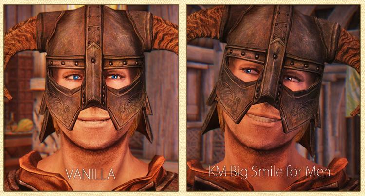 KM Big Smile for Men【男性の表情変更MOD】